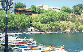 Agios Nikolaos: Am Voulismeni-See