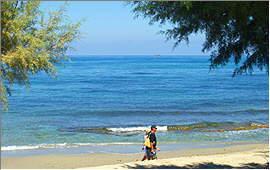Pigianos Kampos: Blick von den Keti-Apartments auf das Ägäische Meer